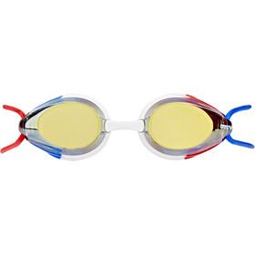 arena Tracks Mirror Maschera Bambino, gold-blue-red